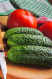 Tomato and cucumber Royalty Free Stock Photos