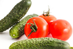 Tomato and cucumber Stock Photo