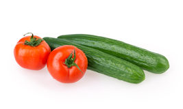 Tomato cucumber Royalty Free Stock Image