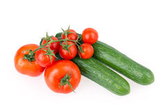 Tomato cucumber Stock Photography