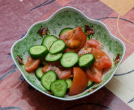 Tomato and Cucumber Stock Images