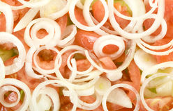 Tomato Cucumber and Onion Salad Background Royalty Free Stock Photos