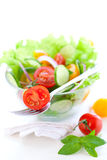 Tomato and cucumber salad Stock Photo