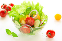 Tomato and cucumber salad Royalty Free Stock Photo