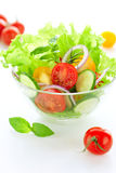 Tomato and cucumber salad Stock Images