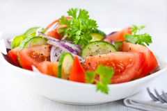 Tomato and cucumber salad Royalty Free Stock Images