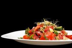 Tomato and cucumber salad Stock Photos