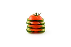 Tomato Cucumber Sandwich Stock Photos