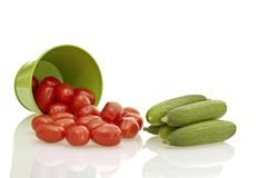 Tomato, cucumber vegetable Royalty Free Stock Photos