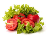 Tomato, cucumber vegetable and lettuce salad Royalty Free Stock Image