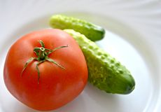 Tomato and cucumbers Stock Photo