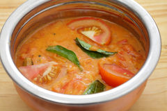 Tomato curry bowl Royalty Free Stock Photo