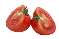 Tomato cut in half Royalty Free Stock Photography