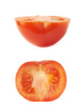 Tomato cut in half isolated Stock Photos