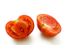 Tomato cut on two parts Stock Photography