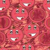 Tomato cute seamless pattern Royalty Free Stock Photo