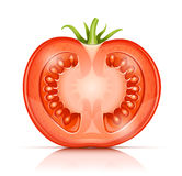 Tomato cuted half-in-half Royalty Free Stock Image