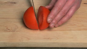 Tomato cutting. stock video