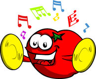Tomato with cymbals Royalty Free Stock Image