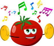 Tomato with cymbals Stock Photography