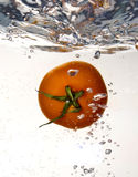 Tomato dropped into water Royalty Free Stock Photography