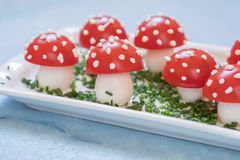Tomato and egg appetizer look amanita Stock Images