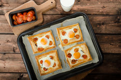 Tomato, Egg, and Prosciutto Tart Royalty Free Stock Photo