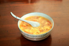 Tomato and egg soup Stock Photos