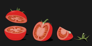 Tomato element Royalty Free Stock Photo