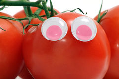 Tomato with eyes Royalty Free Stock Photography