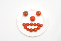 Tomato face Stock Image