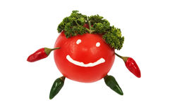 Tomato with face hands and legs Royalty Free Stock Photos