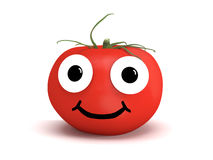 Tomato with face Stock Images
