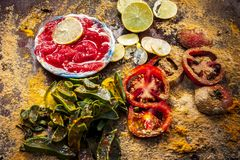 Tomato Face pack made with tomato, fuller`s earth, multani mitti, Curd and Rose leaves for glowing young skin, Herbal treatment. For silky smooth young skin and Stock Photo