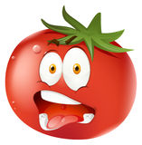 Tomato with facial expression Stock Images