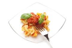 Tomato farfalle Stock Image