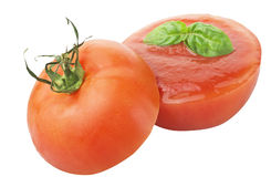 Tomato filled with sauce Stock Image