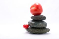 Tomato - food pyramid Royalty Free Stock Image