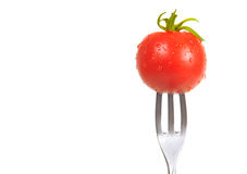 Tomato On a Fork Stock Photos