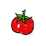 Tomato Freehand Illustration Royalty Free Stock Photography
