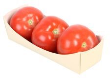 Tomato. Fresh healthy red big tomatoes on white Royalty Free Stock Image