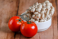 Tomato and fresh mushroom Royalty Free Stock Image