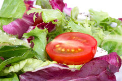 Tomato in fresh salad Royalty Free Stock Images
