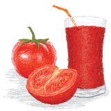 Tomato fruit juice Stock Images