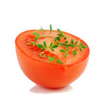 Tomato and garden cress. Stock Images