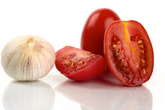 Tomato and garlic Stock Photos