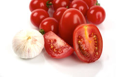 Tomato and garlic Royalty Free Stock Photography