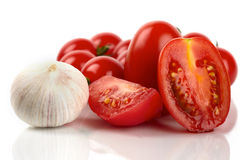 Tomato and garlic Stock Photography