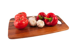 Tomato, garlic and pepper Royalty Free Stock Image
