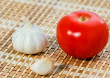 Tomato and garlic Stock Photo